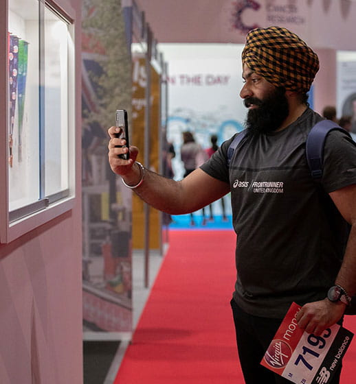 A participant at the Virgin Money London Marathon Running Show