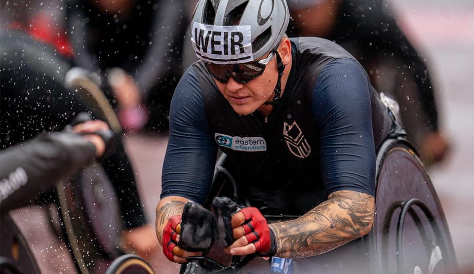 David Weir (GBR) during the Elite Wheelchair Race