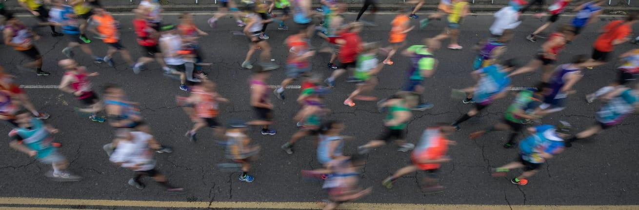 Runners start their Virgin Money London Marathon journey