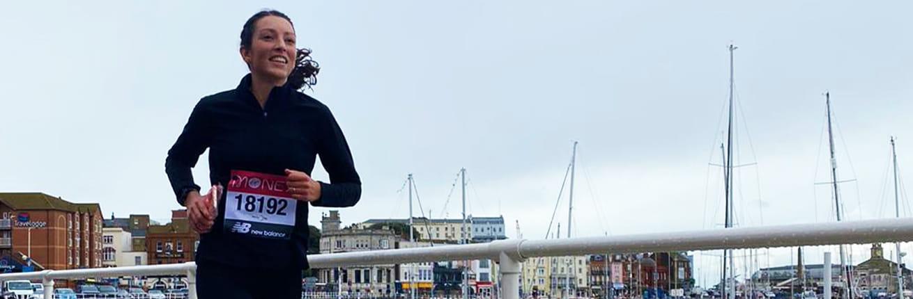 A 2020 virtual Virgin Money London Marathon runner