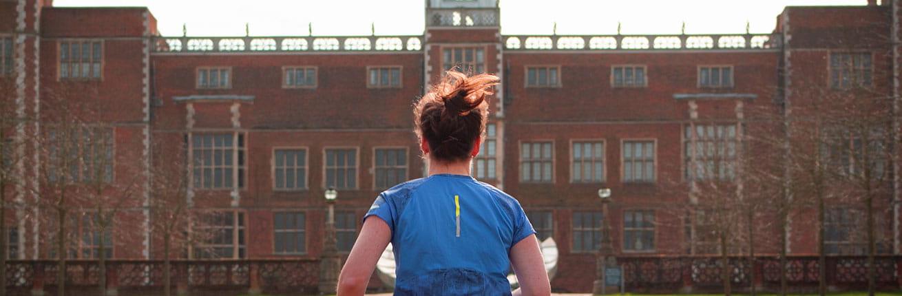 A runner at Hatfield House
