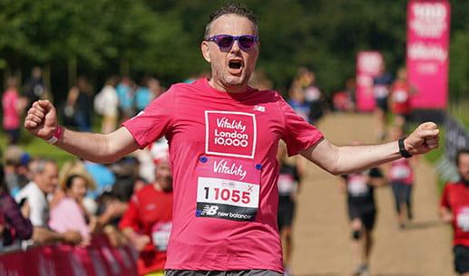 A runner at the Vitality London 10,000 at Hatfield Park