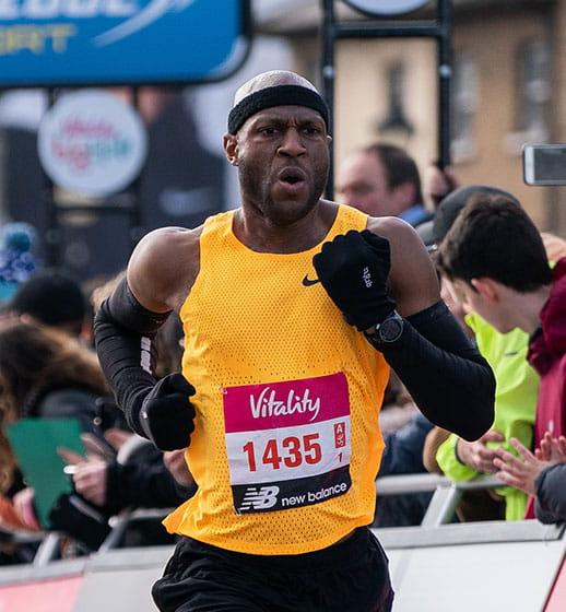 A runner at The Vitality Big Half