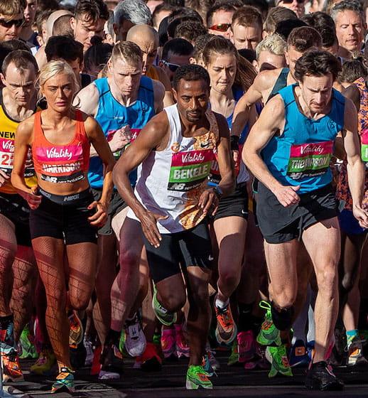 Elite runners on the Start Line of The Vitality Big Half